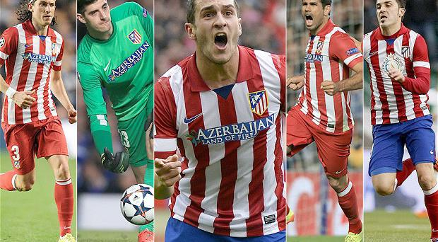 Wanted men: Some of Europe's biggest teams are interested in Atletico Madrid's star players