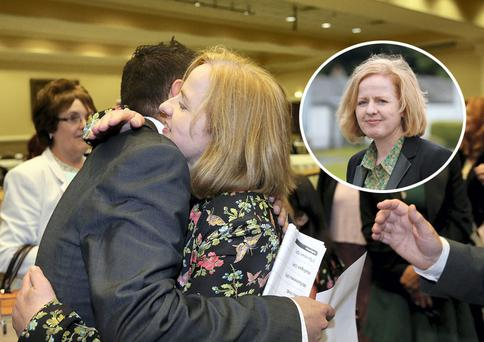 Ruth Coppinger pictured at the count centre in City West. Picture; GERRY MOONEY. 25/5/14