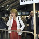 Labour Minister Joan Burton at the count in the RDS. Photo: Tony Gavin