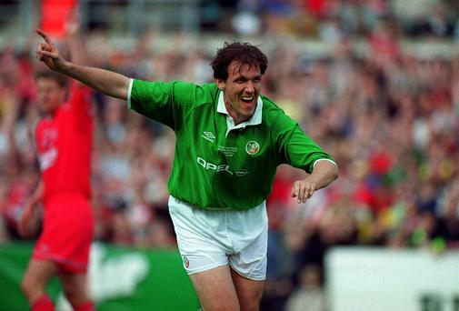 Tony Cascarino: 'I love football. I love how tribal it is and find it amazing what it does to people.' Photo: Damien Eagers/SPORTSFILE