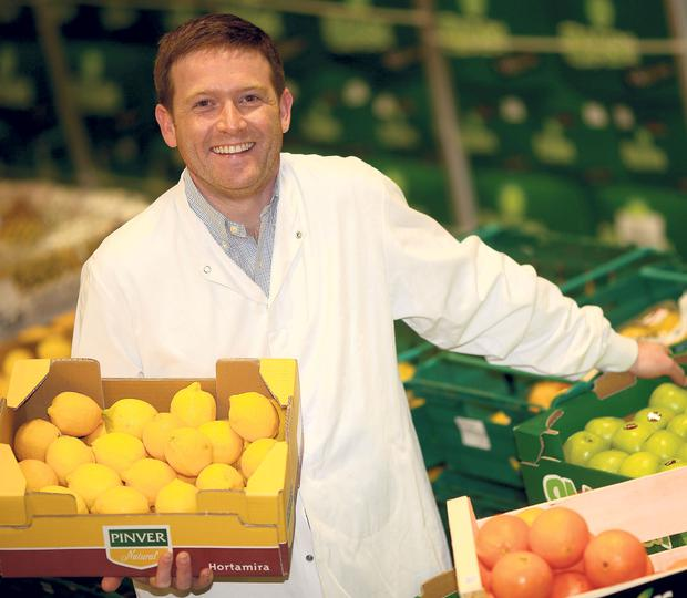 Oranges and Lemons: Ciaran Donnelly, the 34-year-old managing director of Donnelly Fruit & Veg, comes from a long line of greengrocers. Photo: Gerry Mooney