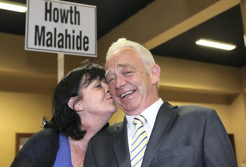 Jimmy and Louann Guerin pictured in the count centre in City West. Picture: GERRY MOONEY