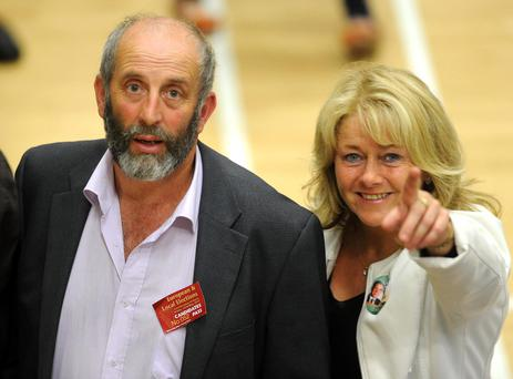 Cllr Danny Healy Rae at the election count in Killarney Sports Centre on Saturday. Picture: Eamonn Keogh (MacMonagle, Killarney)