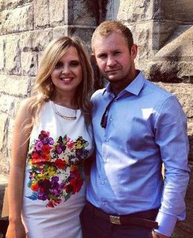 Tragic Irishman Brendan Hickey with girlfriend Julia Pic: Facebook