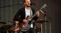 The Kings of Leon performing during Radio 1's Big Weekend at Glasgow Green, Glasgow. Mark Runnacles/PA Wire