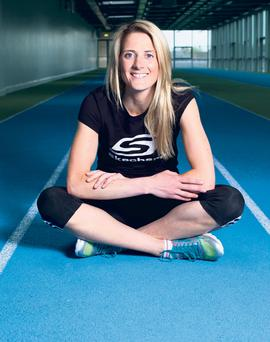 Juliet Murphy photographed in UCC indoor running arena Cork City