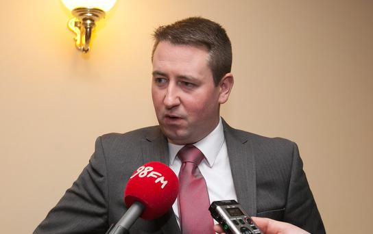 Fianna Fail Dublin Mid west candidate David McGuinness at the counts at City West Hotel, Dublin. Photo: Gareth Chaney Collins