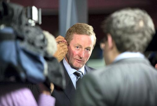Taoiseach Enda Kenny TD at the count centre for the local and European elections in the TF Royal Hotel, Castlebar. Co Mayo. Photo: Keith Heneghan
