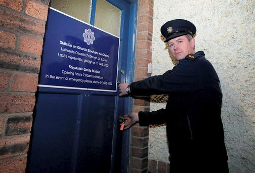 Stepaside garda station, which closed last year, is now being used by mobile phone operators. Photo: Arthur Carron/Collins