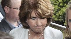 Labour's Joan Burton at the elections at City West Hotel. Photo: Collins