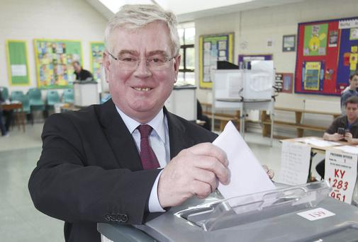 Eamon Gilmore: under pressure. Photo: Collins