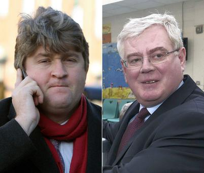 Labour's Michael McNamara and (right) Eamon Gilmore
