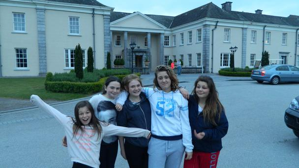 A group of fans at Cork's Castlemartyr Hotel.