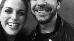 Amy with NKOTB's Donnie Wahlberg. Picture: Amy Huberman/Twitter