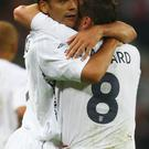 Rio Ferdinand and Frank Lampard in action for England
