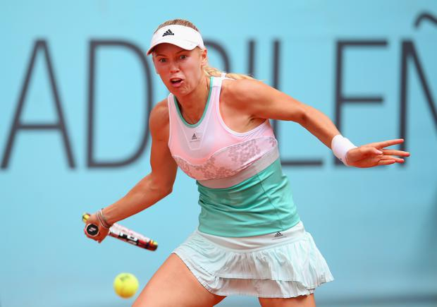 Caroline Wozniacki will play her first game since the break-up with Rory McIlroy at the French Open tomorrow.