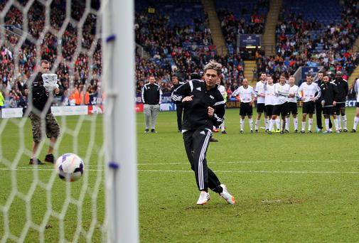 Niall Horan before the charity football match in Leicester