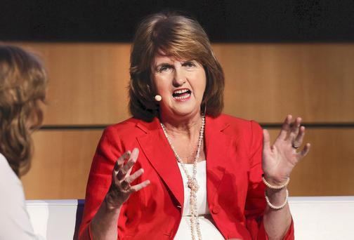 Joan Burton. Photo: Steve Humphreys