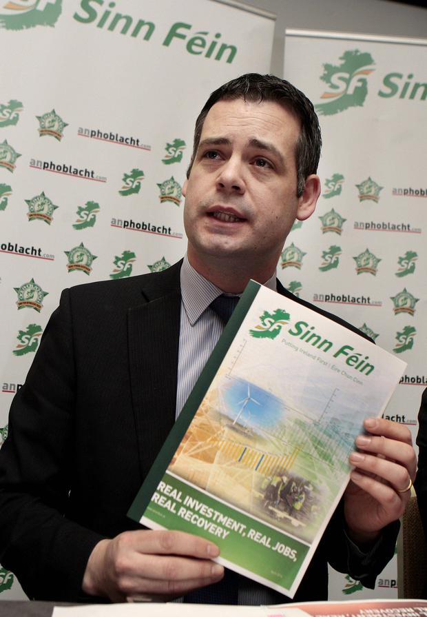 Sinn Fein's finance spokesman Pearse Doherty. Photo: Tom Burke