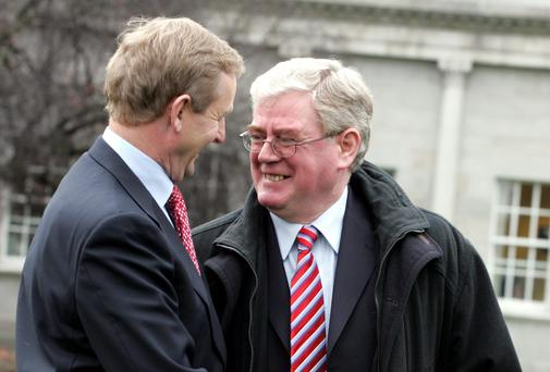 Enda Kenny and Eamon Gilmore pictured last year