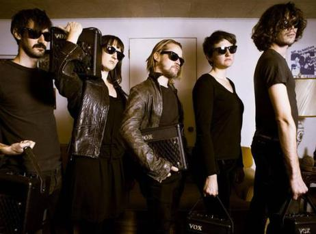 Culkin with his pizza-themed Velvet Underground tribute band