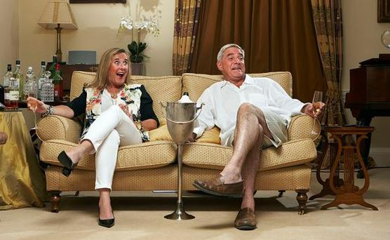 Gogglebox stars Dominic and Stephanie Parker were not at home when the orgy took place Photo: CHANNEL 4