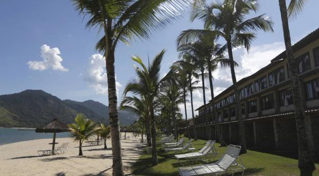 Rooms facing the beach at the Portobello Resort, Mangaratiba where Italy will be based during the 2014 World Cup
