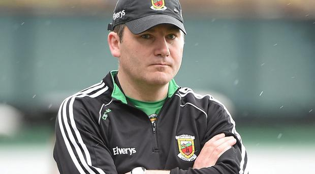 Mayo manager James Horan believes the additional burdens being placed on referees is making it difficult for them to carry out their functions. Photo: Pat Murphy / SPORTSFILE