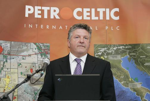 Brian O'Cathain, CEO of Petroceltic International Plc. Picture Paul Sharp