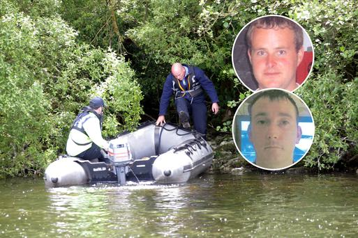 Eoin O'Connor and Anthony Keegan (inset), whose bodies were found on Lough Sheelin, were victims of organised crime
