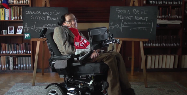 Professor Stephen Hawking has some advice for Roy Hodgson and his team