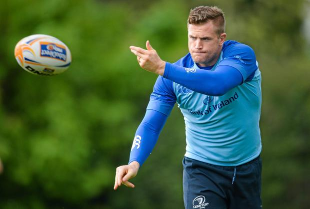 Jamie Heaslip and his Leinster teammates are determined to retain their Pro12 trophy at the RDS on Saturday. Photo: Stephen McCarthy / SPORTSFILE
