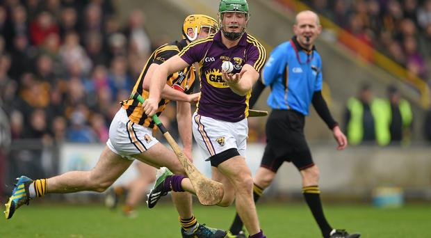 Wexford captain Matthew O'Hanlon, here in action against Kilkenny's Colin Fennelly, is wary of the Antrim threat. Photo: Brendan Moran / SPORTSFILE