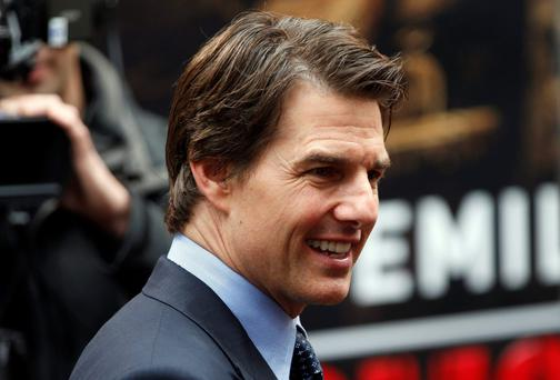 Cast member Tom Cruise arrives at the world premiere of the film