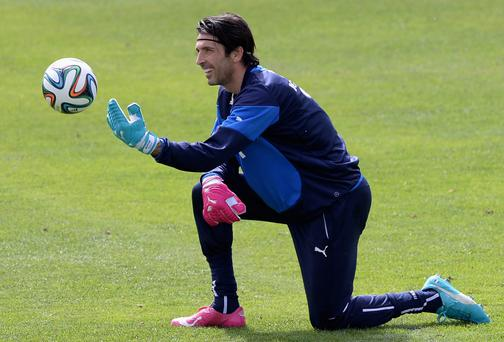 Italy's Gianluigi Buffon is targeting the quarter-finals as a minimum requirement for their World Cup campaign. Photo: Claudio Villa/Getty Images