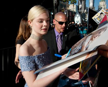 LOS ANGELES, CA - MAY 28: Elle Fanning seen at the