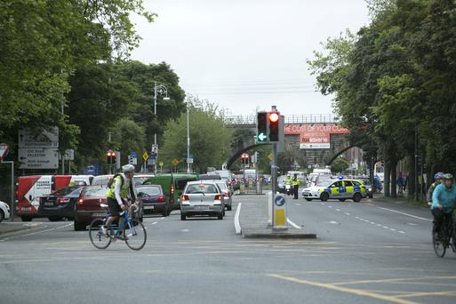 Scene of the Fatal Road Accident at the Junction of the Malahide Road and Fairview early this morning