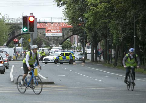 Scene of the Fatal Road Accident at the Junction of the Malahide Road and Fairview in May