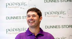 Pádraig Harrington and Dunnes Stores New Men's Golf Clothing Line. Mandatory Credit ©INPHO/James Crombie