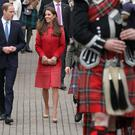 The Duke and Duchess of Cambridge during a tour of The Famous Grouse Distillery