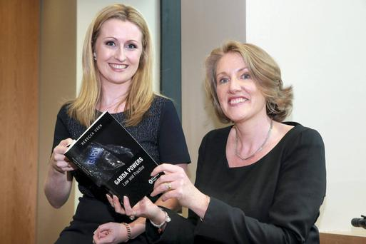 Rebecca Coen (left), author of 'Garda Powers: Law and Practice', and Claire Loftus, Director of Public Prosecutions. Photo: Arthur Carron