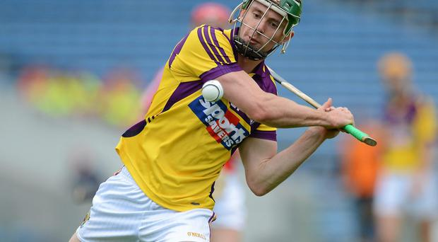 Harry Kehoe in action for Wexford