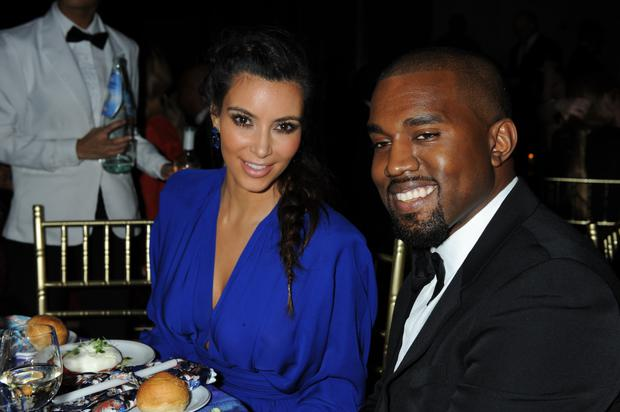 Kim Kardashian and Kanye West attending the Angel Ball 2012 cancer research benefit at Cipriani Wall Street. (Photo by Richard Corkery/NY Daily News via Getty Images)