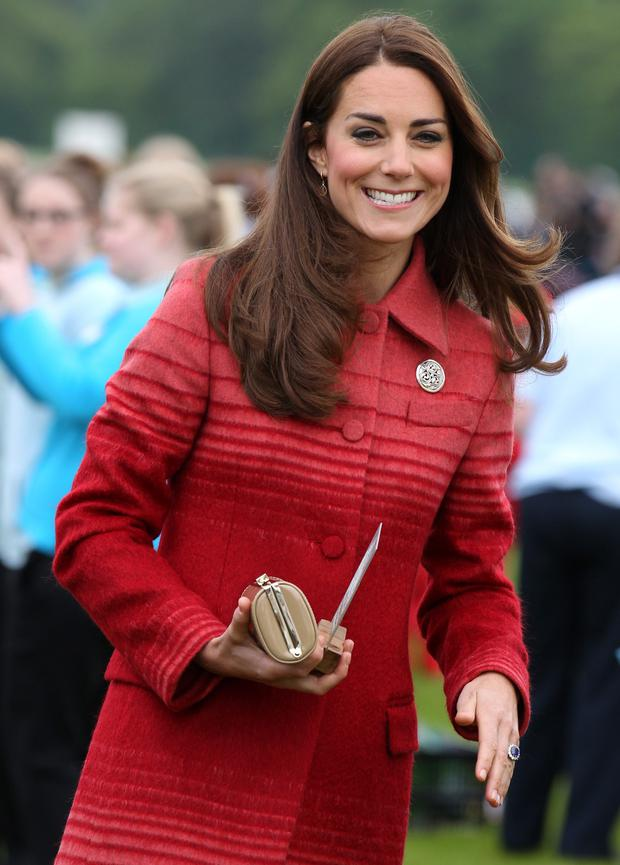 Catherine, Duchess of Cambridge during a visit to Strathearn Community Campus