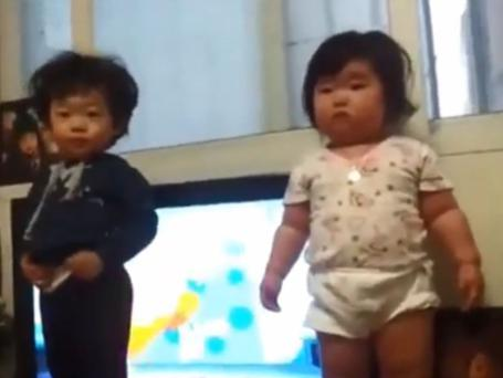 She might only be walking a few months, but she has her dancing moves down to a tee.