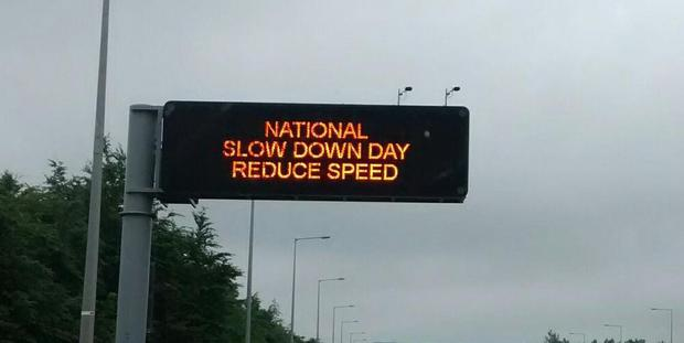 National Slow Down Day (Photo: Twitter/GardaTraffic)