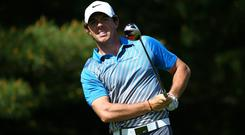 Rory McIlroy couldn't repeat his first round heroics as he slumped to a six-over par 78. Photo: Andy Lyons/Getty Images