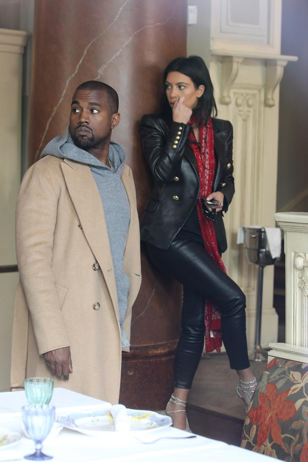 PRAGUE, CZECH REPUBLIC - MAY 30: Kim Kardashian West and Kanye West are sighted on May 30, 2014 in Prague, Czech Republic. (Photo by Michaela Feuereislova/isifa/Getty Images)