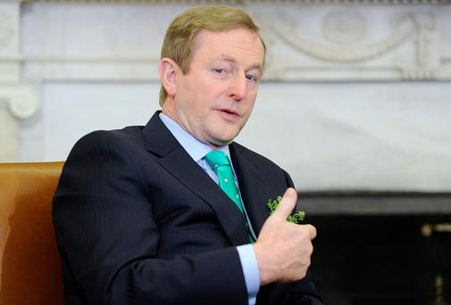 "Mr Kenny described the rate, which is applied to incomes of above €32,800, as ""unsustainable"""