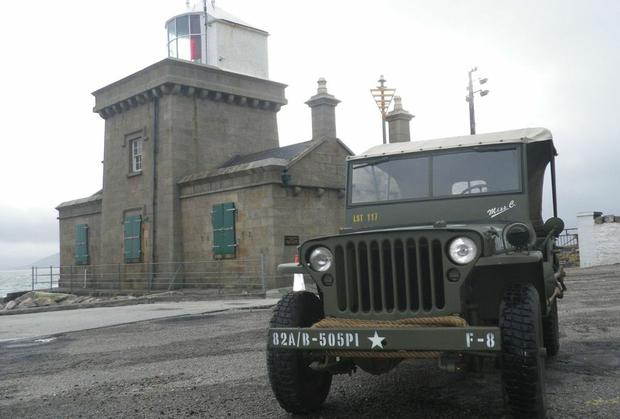 Blacksod Lighthouse with an iconic wartime Willys jeep